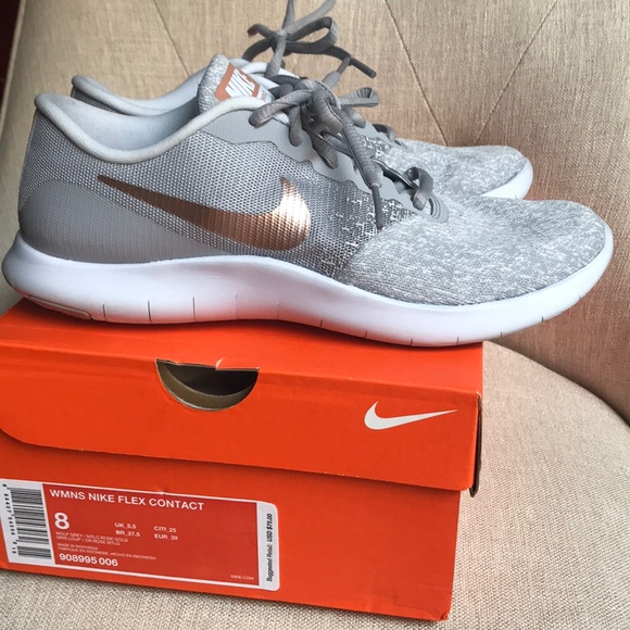 01baa3083273c Nike Flex Contact Grey and Rose Gold